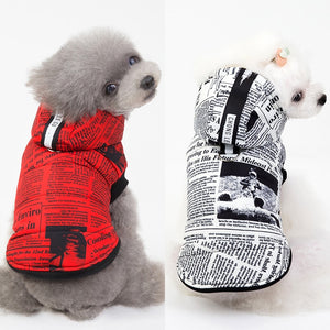 S-XXL Winter Pet Coat Clothes For Dogs Clothes Warm Dogs Jacket Small Medium Dog Christmas Dog Clothing Hoodies Chihuahua