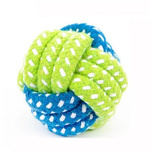 Load image into Gallery viewer, Pet Dog Plush Chew Squeak Sound Rope Ball Toys Dogs Chew Teeth Clean Outdoor Training Fun Playing Toy For Small Large Dog