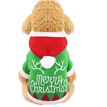 Load image into Gallery viewer, Pet Dog Coat Coral Hoodie For Dogs Christmas Letters Printed Hooded Warm Tops For Winter