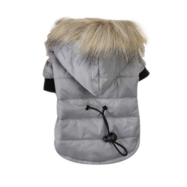 Pet Dog Coat Jacket For Chihuahua Winter Warm Dog Clothes Soft Fur Hood Cothing For Small Medium Dogs Puppy Yorkshire Outfit