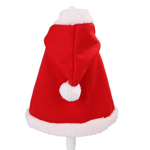 Pet Dog Cat Cloak Warm Clothes Pet Supplies Thickened Costume Coat Christmas Halloween Outfit Dress Up For Dogs Cats S/M/L