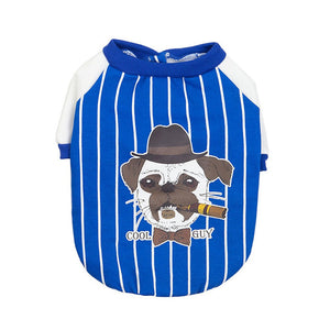 Transer Dog Clothes Striped Sports Baseball Uniform French Bulldog Dog Jacket Pet Coat Autumn Spring Winter Pet Apparel 9828