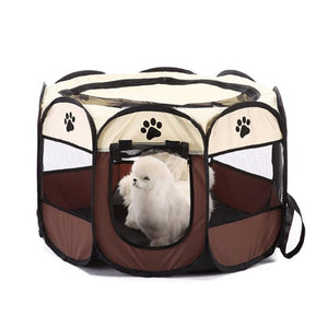 Promotion! Portable Folding Pet tent Dog House Cage Dog Cat Tent Playpen Puppy Kennel Easy Operation Octagon Fence #A