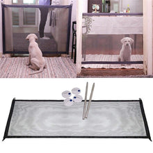 Load image into Gallery viewer, Magic Gate Portable Folding Safety Guard For Pets Dog Cat Isolated Gauze 110cm x 75cm