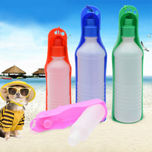 Load image into Gallery viewer, 250ml Dog Water Bottle Feeder With Bowl Plastic Portable Water Bottle Pets Outdoor Travel Pet Drinking Water Feeder