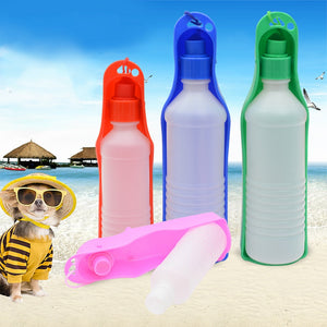 250ml Dog Water Bottle Feeder With Bowl Plastic Portable Water Bottle Pets Outdoor Travel Pet Drinking Water Feeder