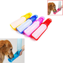 Load image into Gallery viewer, Dog Water Bottle Feeder With Bowl Plastic Portable Water Bottle Pets Outdoor Travel Pet Drinking Water Feeder