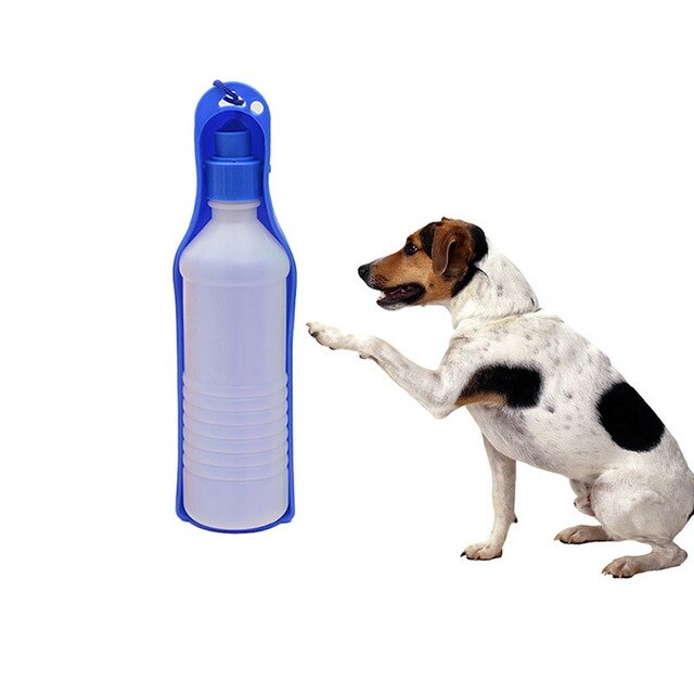 Dog Water Bottle Feeder With Bowl Plastic Portable Water Bottle Pets Outdoor Travel Pet Drinking Water Feeder
