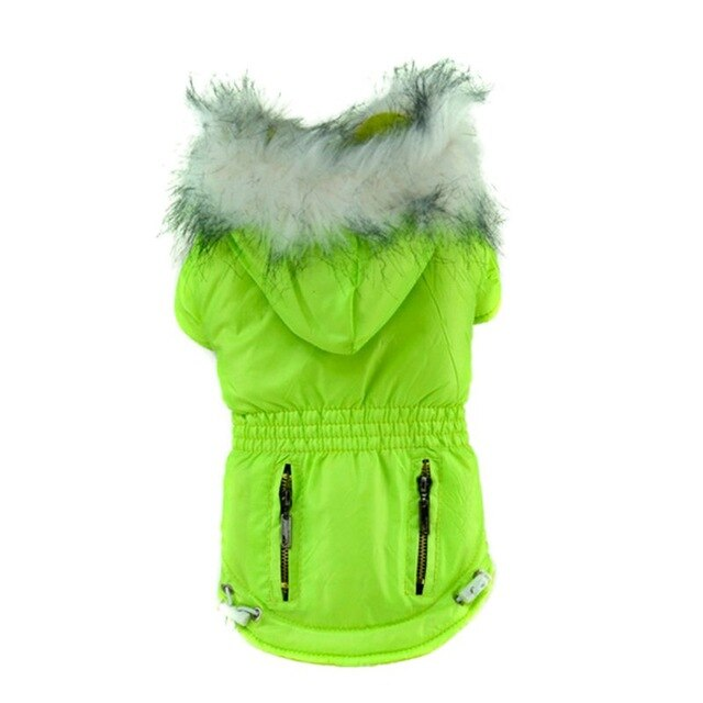 Winter Dog Jacket Dog Coats Pet Small Dog Puppy Hoodie Thick Jacket Clothes Apparel Outwear 5 Colors