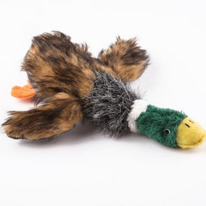 Dog Toys Lovely Pet Puppy Chew Plush Cartoon Animals Squirrel Cotton Rope OX Shape Bite Toy Duck Shaped Squeak Toys