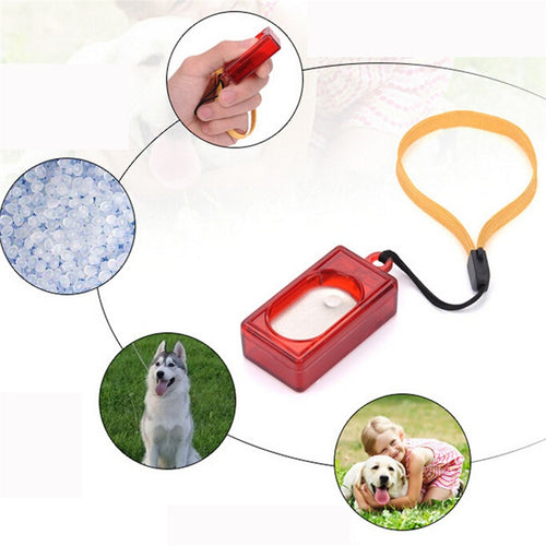 Dog Pet Click Clicker Training Obedience Agility Training Aid Wrist Strap New Aug8 Professional Factory price Drop Shipping