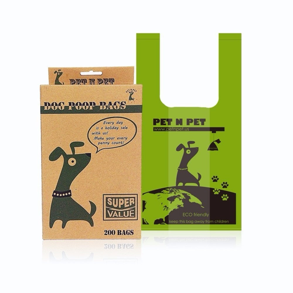 Dog Poop Bags Earth-Friendly 200 Counts Unscented Tie Handle Dog Waste Bags Poop Bags
