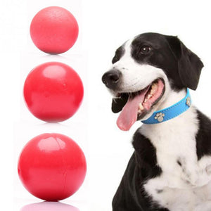 Super Toughness Pet Molar Bite Resistant Training Chew Toy Non-toxic Solid Natural Rubber Bouncing Ball For Dog Cat
