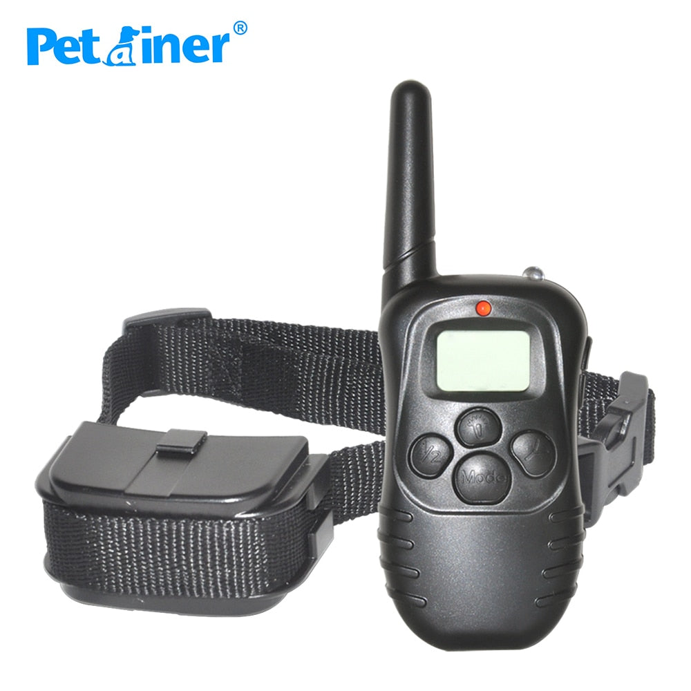 Petrainer 998D-1 300M Remote Control 100LV Shock + Vibra Electric Dog Training Collar for dogs