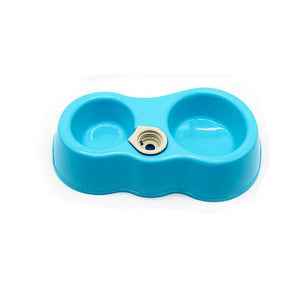 Transer Pet Feeding Supply 2 in 1 Plastic Portable Outdoor Cat Dog Food Water Feeder Bowl 71229