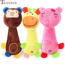 Load image into Gallery viewer, Transer Pet Supply 1pc Soft Plush Funny Animal Squeak Sound Chew Toys For Dog 80224