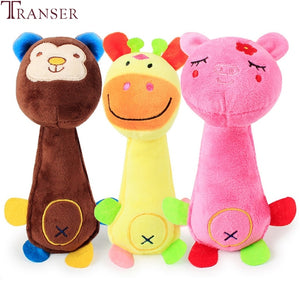 Transer Pet Supply 1pc Soft Plush Funny Animal Squeak Sound Chew Toys For Dog 80224