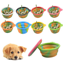 Load image into Gallery viewer, Camouflage Pet Silicone Bowl Collapsible Portable Folding Travel Dogs Cats Food Water Supply Drop Shipping