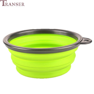 Pet Supply Foldable Silicone Pet Dog Cat Water Food Feeding Bowl For Outdoor Travel 80516 Drop Shipping