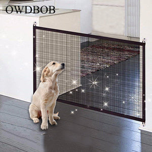 OWDBOB Pet Dog Fences Magic Gate Folding Safe Guard Dog Safety Enclosure Protection Magic Gate for Dogs Cats Pet Accessories