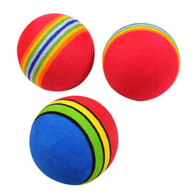 Load image into Gallery viewer, 1 Pc Pet Dogs Love it Colorful Funny Pet Cat Dog Kitten Soft Foam Rainbow Play Balls Toys Chew Rubber Toy Cleaning Teeth 3.5cm