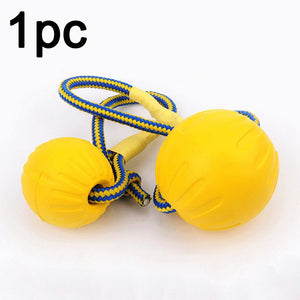 With Carrier Rope Play Fetch Indestructible Chew Toys Training Ball Bite Pet Dog Rubber Funny Teeth Solid Puppy