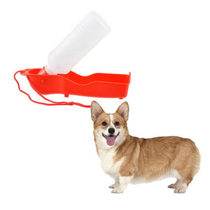 Hoomall 250ML Foldable Dog Water Bottle Kitten Puppy Dog Feeder Outdoor Travel Portable Plastic Bottle Cats Dogs Pet Accessories