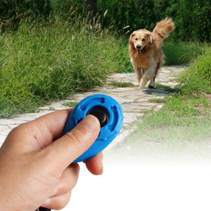 Dog Clicker Training Trainer With Key Ring And Wrist Strap Treat Bag Feed Pouch Pockets Bag 4 Colors