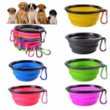 Load image into Gallery viewer, Dog Travel Bowl Portable Foldable Collapsible Pet Cat Dog Food Water Feeding Travel Outdoor Bowl Oct#2