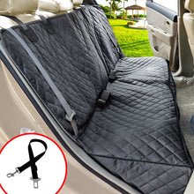 Load image into Gallery viewer, Dog Seat Cover Back Seat Covers 100% Waterproof Nonslip 600D Heavy Duty Bench Car Seat Covers With Armrest Fits Trucks SUV's