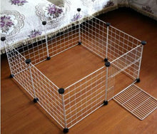 Load image into Gallery viewer, DIY Pet House Foldable Pet Playpen Iron Fence Puppy Kennel Exercise Training Puppy Kitten Space Rabbits/Guinea Pig/Hedgehog