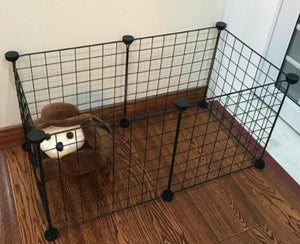 DIY Pet House Foldable Pet Playpen Iron Fence Puppy Kennel Exercise Training Puppy Kitten Space Rabbits/Guinea Pig/Hedgehog