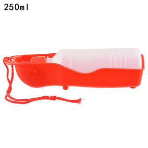 DIDIHOU 1PC Pet Dog Water Bottle 250ml Foldable Portable Drinking Bottle Travelling Outdoor Drinking Feeder Bowl