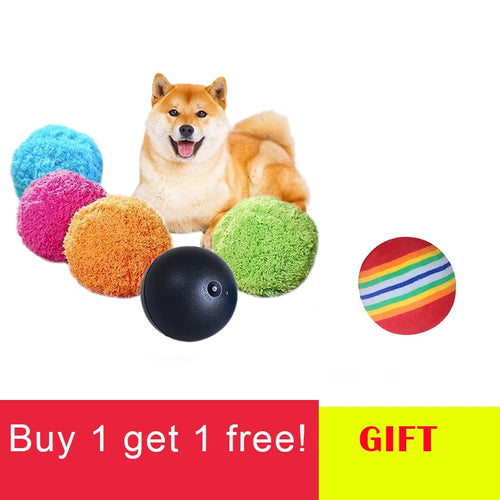 Pet Dog Toy lush Ball Magic Roller Balls Toy Ball Plus Clean Balls 2 In 1 Function Automatically Vacuum Dog Toys