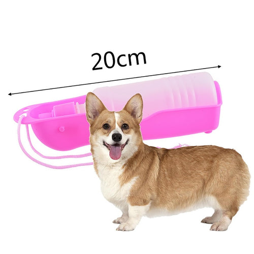 Puppy Dog Feeder Outdoor Travel Portable Water Bottle Dog Accessories Pet Dog Feeders Plastic Dog Water Bottle Lovely