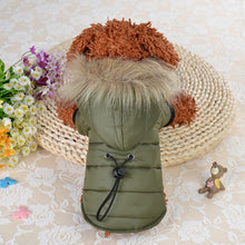 Load image into Gallery viewer, Small Dog Clothes For Chihuahua Soft Fur Hood Puppy Jacket Clothing for Chihuahua Small Large Dogs Pet Dog Coat Winter Warm