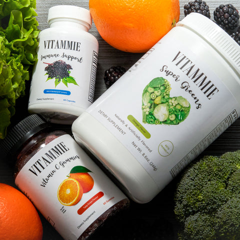 WELLNESS BOX- (Vitamin C Gummies, Super Greens Powder & Immune Support Capsules)