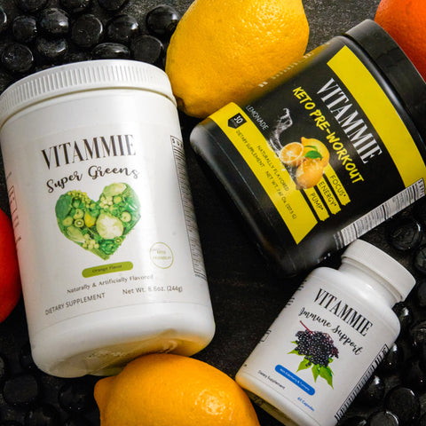 KETO BOX | LEMONADE (Keto Pre-Workout, Keto Super Greens, & Immune Support Capsules)