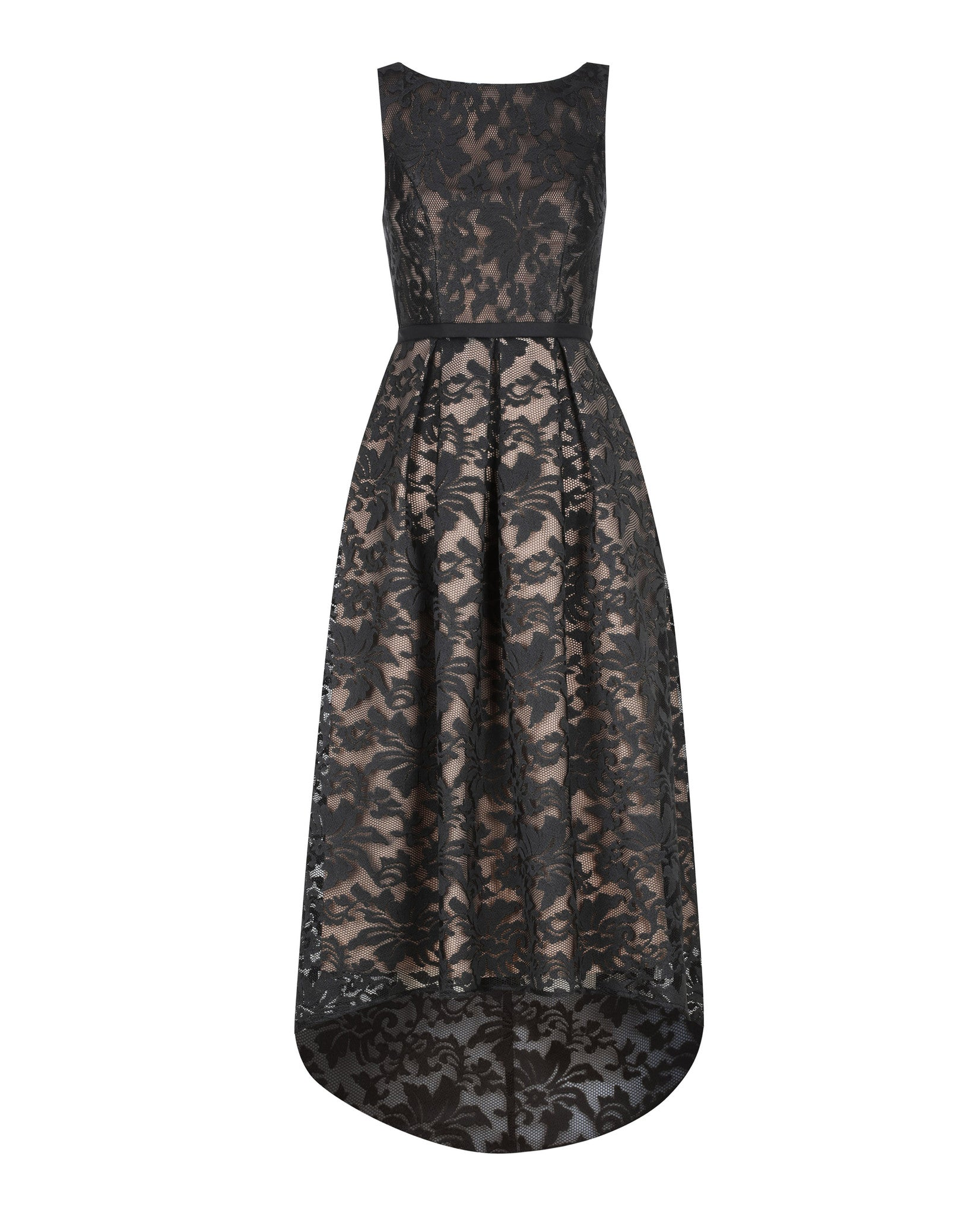 MARIANA DRESS- BLACK/NUDE
