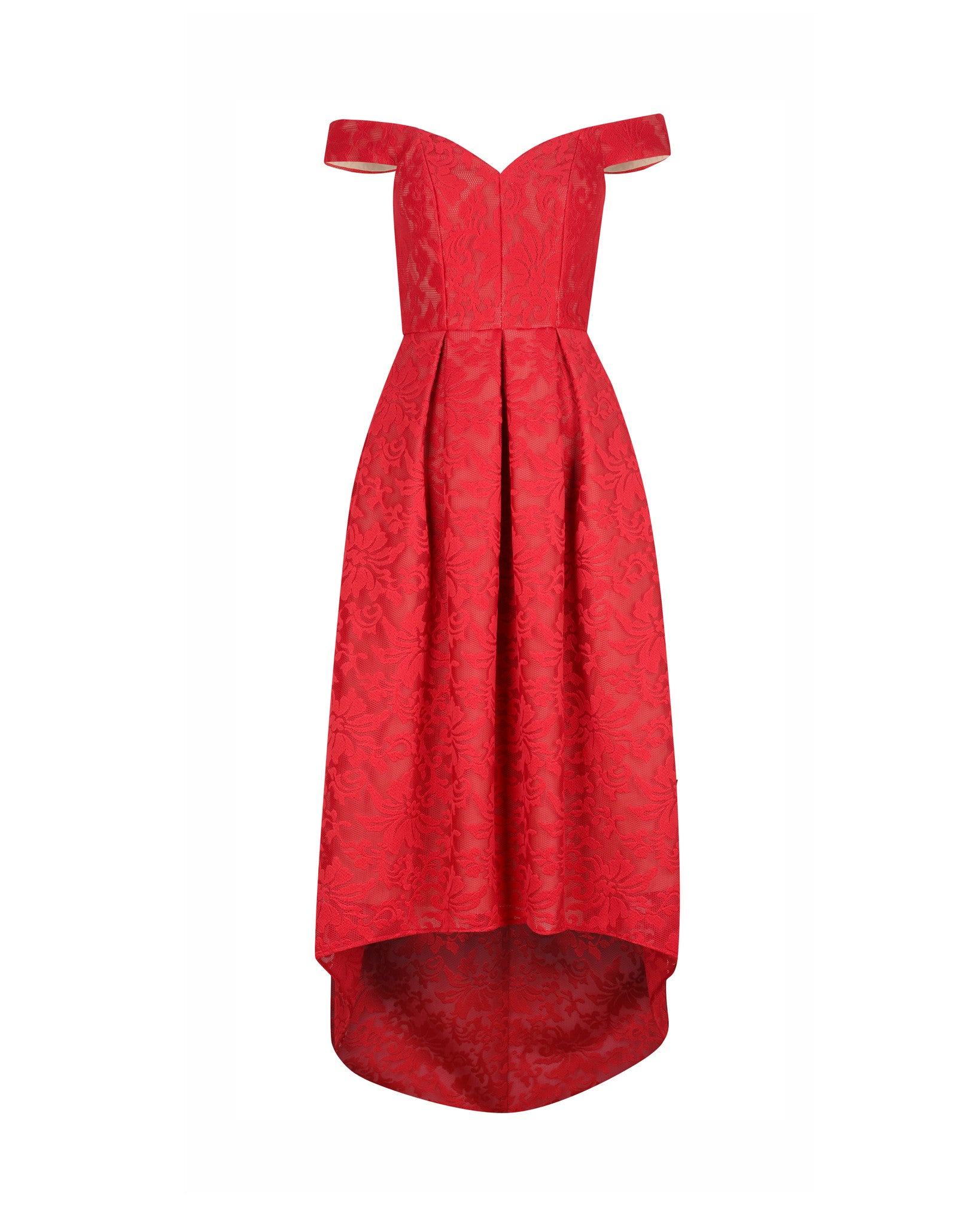 MIA DRESS- SCARLET/NUDE