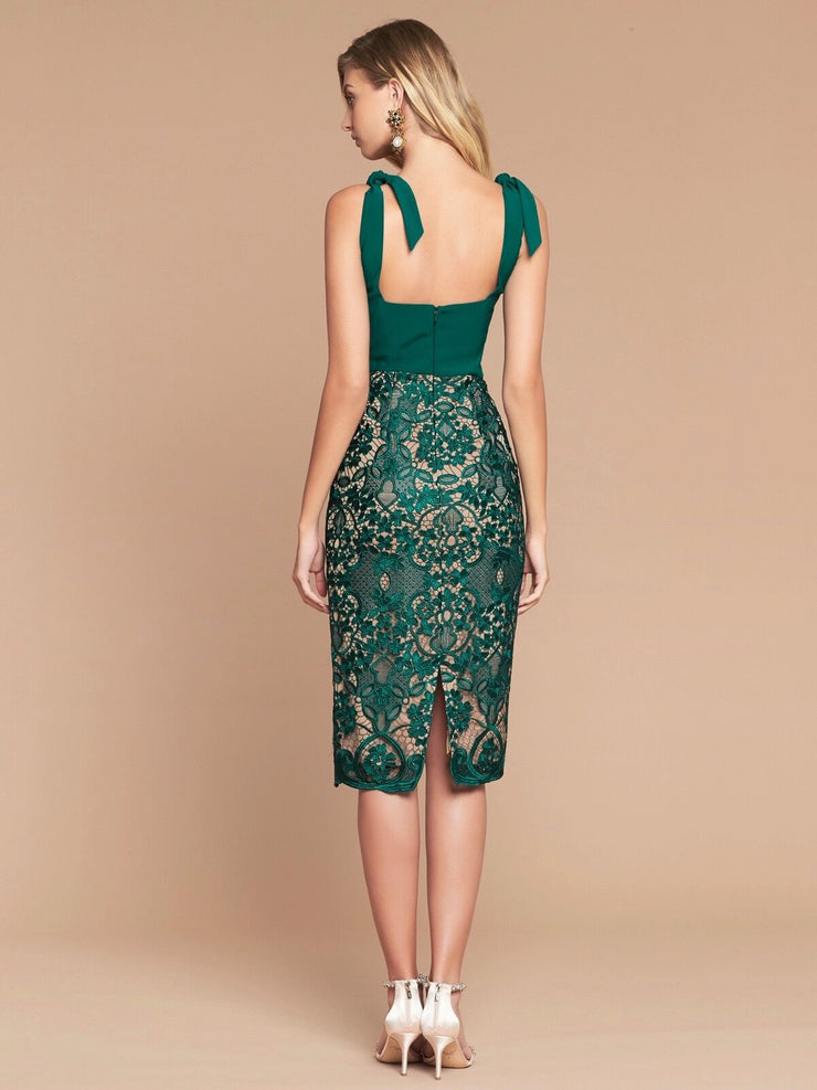 PORTIA MIDI DRESS - JADE