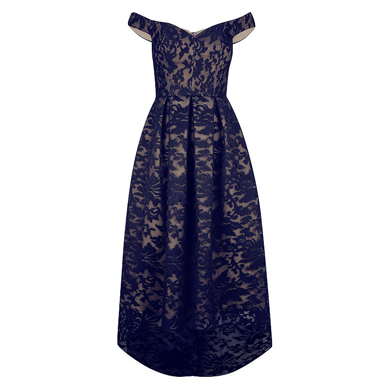 MIA DRESS- NAVY/NUDE