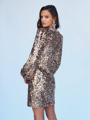 AMORE SEQUIN DRESS - ROSE GOLD