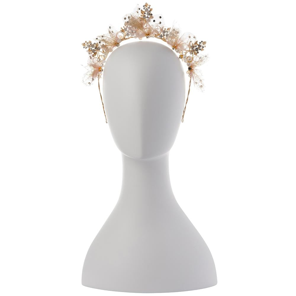 BLUSH METAL & TULLE CROWN