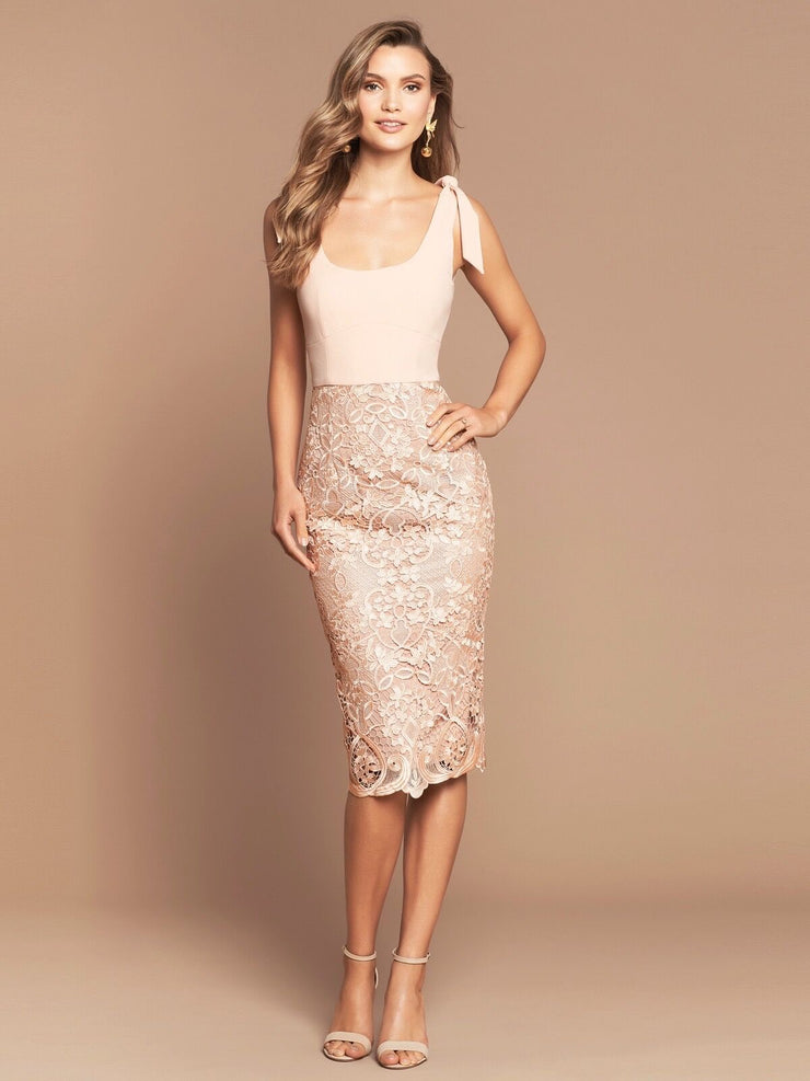 PORTIA MIDI DRESS - BLUSH