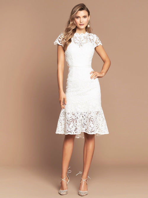 baroque lace dress ivory