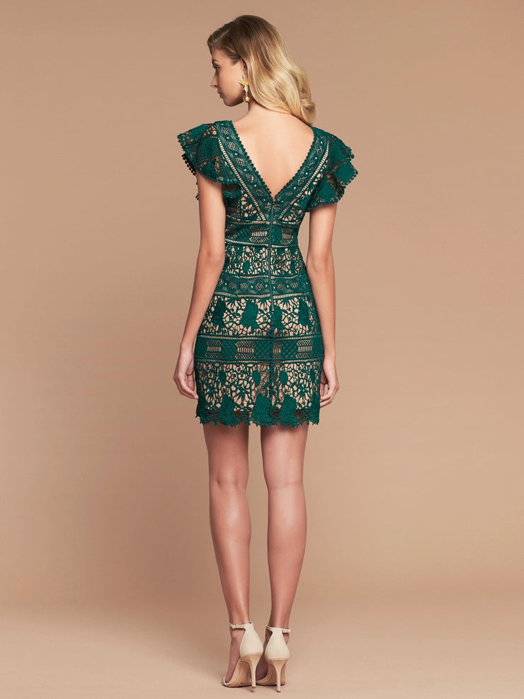 SIENA LACE DRESS - JADE