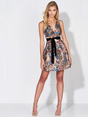 RUMI SEQUIN DRESS - MULTI