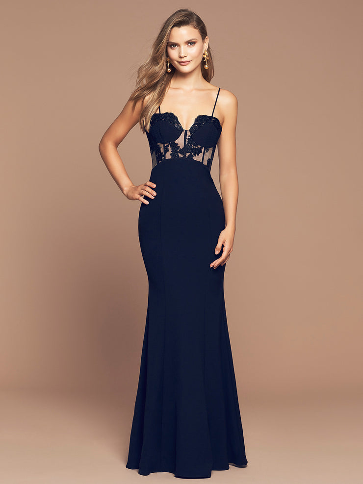 EMPRESS GOWN- FRENCH NAVY