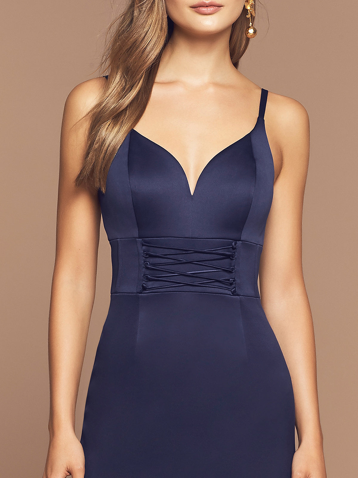 GIA DRESS - NAVY